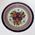 "Polish Pottery BUTTERFLY MARRY MAKING 11"" stoneware Dinner Plate"