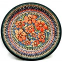 "Polish Pottery CHERISHED FRIENDS 11"" Stoneware Dinner Plate 