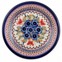"Polish Pottery STRAWBERRY BUTTERFLY 11"" Stoneware Dinner Plate 