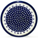 "Polish Pottery DROPS OF JOY 11"" Stoneware Dinner Plate 