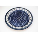 "Polish Pottery FLURRY OF JOY 11"" Stoneware Dinner Plate 