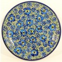 "Polish Pottery BLUE LAGOON 7.75"" Stoneware Salad-Luncheon Plate"