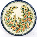 POLISH POTTERY STONEWARE SEASONS DINNER PLATE | UNIKAT