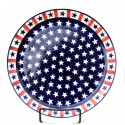 "Polish Pottery AMERICANA 11"" Stoneware Dinner Plate 