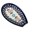 "Polish Pottery HERITAGE 5"" Stoneware Spoon Rest 