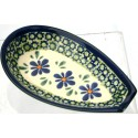 "Polish Pottery SWEETIE PIE 5"" Stoneware Spoon Rest"