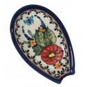 "Polish Pottery BUTTERFLY MERRY MAKING 5"" Stoneware Spoon Rest 