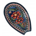 "Polish Pottery CHERISHED FRIENDS 5"" Stoneware Spoon Rest 