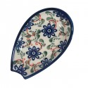 "Polish Pottery RIVERBANK 5"" Stoneware Spoon Rest 