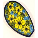"Polish Pottery 5"" CITRINE Spoon Rest 