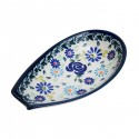 "Polish Pottery 4TH OF JULY 5"" Stoneware Spoon Rest 