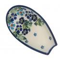 "Polish Pottery TRUE BLUES 5"" Stoneware Spoon Rest | ARTISAN"
