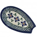 "Polish Pottery SWEETIE PIE 5"" Stoneware Spoon Rest 
