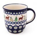 Pottery Avenue 12-oz CARIBOU LODGE Stoneware Coffee Mug | CLASSIC