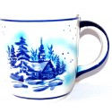 Polish Pottery 12-oz LIMITED CHRISTMAS Coffee Mug | ARTISAN