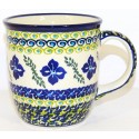Polish Pottery FLORAL ROYAL 12-oz Stoneware Mug