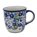 Polish Pottery TRUE BLUES 12-oz Stoneware Mug | ARTISAN