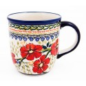 Polish Pottery LOVE BLOSSOMS 12-oz Stoneware Mug | EX-UNIKAT