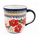 Polish Pottery LOVE BLOSSOMS 12-oz Stoneware Mug | EX-UNIKAT