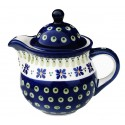 Polish Pottery DROPS OF JOY Personal 10-oz Stoneware Teapot | CLASSIC