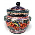 Polish Pottery CHERISHED FRIENDS 7.6-Cup Stoneware Canisters | UNIKAT