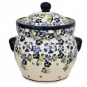 Polish Pottery TRUE BLUES 7.6-Cup Stoneware Canister | ARTISAN