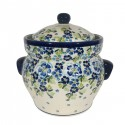 Polish Pottery TRUE BLUES 16-Cup Stoneware Canister | ARTISAN