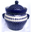Polish Pottery FLOWERING PEACOCK 16-Cup Stoneware Canister | CLASSIC