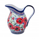Polish Pottery BELLISSIMA 2-Quart Stoneware Pitcher | EX-UNIKAT