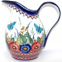 Polish Pottery BUTTERFLY MERRY MAKING 2-Quart Stoneware Pitcher | UNIKAT