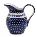 Polish Pottery FLOWERING PEACOCK Classic 2-Quart Stoneware Water Pitcher | CLASSIC