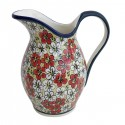 Polish Pottery RED BACOPA 2-Quart Stoneware Pitcher | UNIKAT