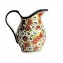 Polish Pottery RED BACOPA 2- Quart Stoneware Pitcher | UNIKAT