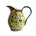 Polish Pottery BLUE CITRINE 2-Quart Stoneware Pitcher | UNIKAT