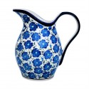 Polish Pottery BLUE HARMONY 2-qrt Stoneware Pitcher | UNIKAT