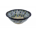 Polish Pottery TRUE BLUES Stoneware Colander | ARTISAN