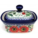 POLISH POTTERY STONEWARE BELLISSIMA | BUTTER BOX