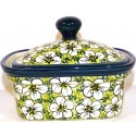 Polish Pottery BACOPA 2-Cup Stoneware Butter Box | UNIKAT
