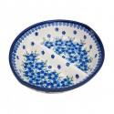 Polish Pottery MOD FLORAL 7-inch Stoneware Divided Dish | ARTISAN