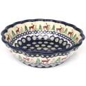 Pottery Avenue CARIBOU LODGE Scalloped Stoneware Serving Bowl | CLASSIC