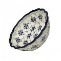 Polish Pottery SWEETHEART Scalloped Stoneware Serving Bowl   ARTISAN