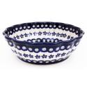 Polish Pottery FLOWERING PEACOCK Scalloped Bowl