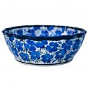 Polish Pottery BLUE HARMONY Stoneware Scalloped Bowl | UNIKAT