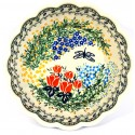 Pottery Avenue DRAGONFLY Scalloped Stoneware Serving Bowl   ARTISAN