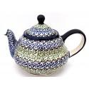 Polish Pottery CELEBRATE 6.25-Cup Mrs. Pots Stoneware Teapot | CLASSIC
