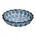Polish Pottery BLUE HARMONY 10-inch Stoneware Quiche/Pie Dish   UNIKAT