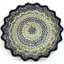 "Polish Pottery CELEBRATE 10"" Stoneware Quiche-Pie Dish 