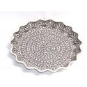 "Polish Pottery 13"" ELEGANT TIMES Pie-Quiche Dish | CLASSIC"