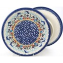 "Polish Pottery Vena DOLPHIN 10.25"" Dinner Stoneware Plate"