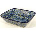 "Polish Pottery 10"" Blue Lagoon Rectangular Bakeware| UNIKAT"